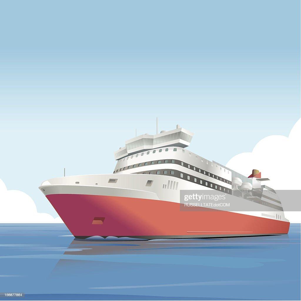 Red ship : Vector Art