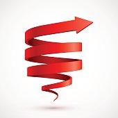 Red spiral arrow 3D