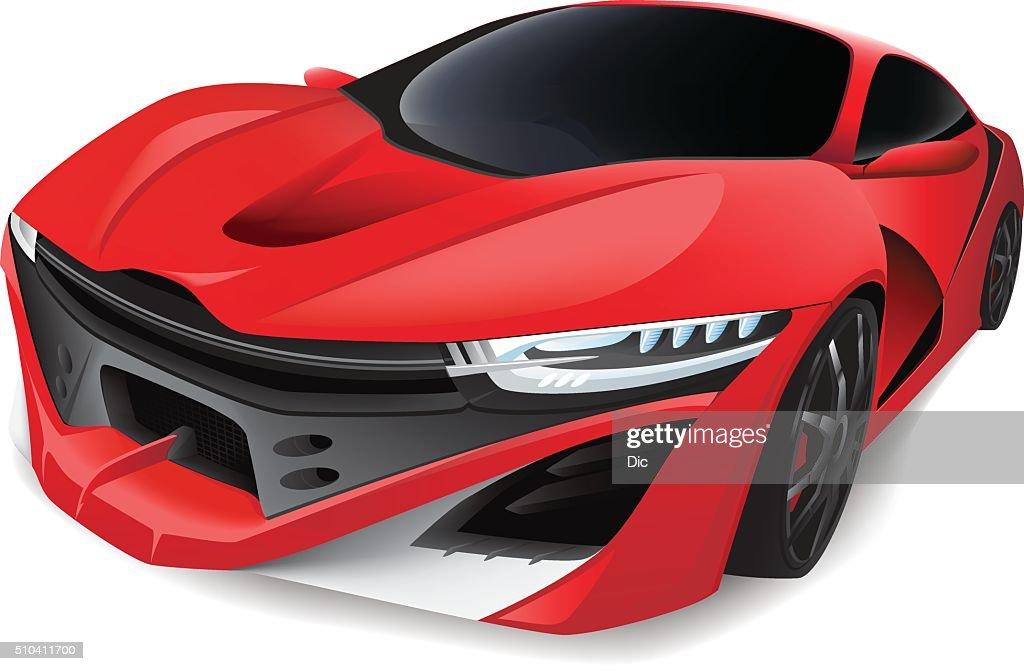 Red Sports Car : stock illustration