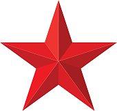 Red star 3D shape