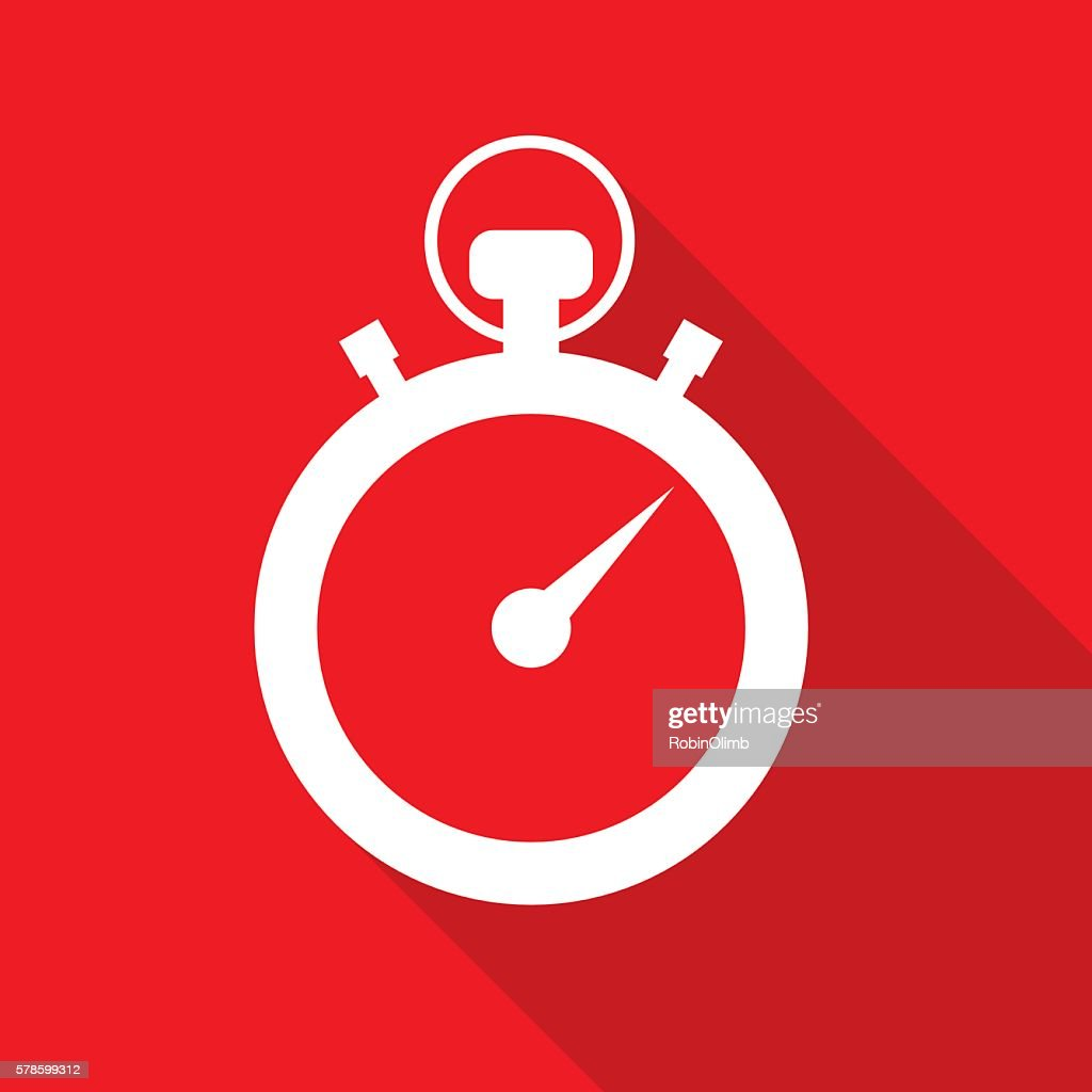 Red Stopwatch Icon : stock illustration