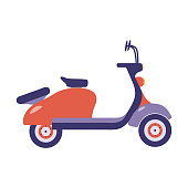 Red Summer Scooter Icon