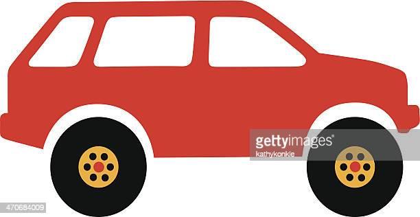 red suv - suv stock illustrations, clip art, cartoons, & icons