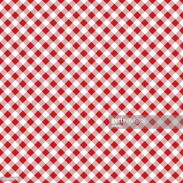 赤いテーブル クロス アーガイル柄 - ギンガムチェック点のイラスト素材/クリップアート素材/マンガ素材/アイコン素材
