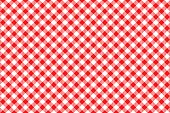 red tablecloth diagonal background seamless pattern