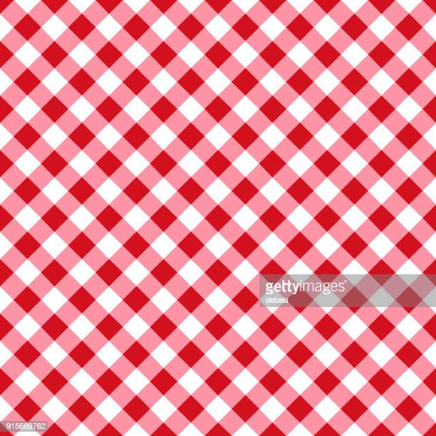 red tablecloth pattern - menu background stock illustrations