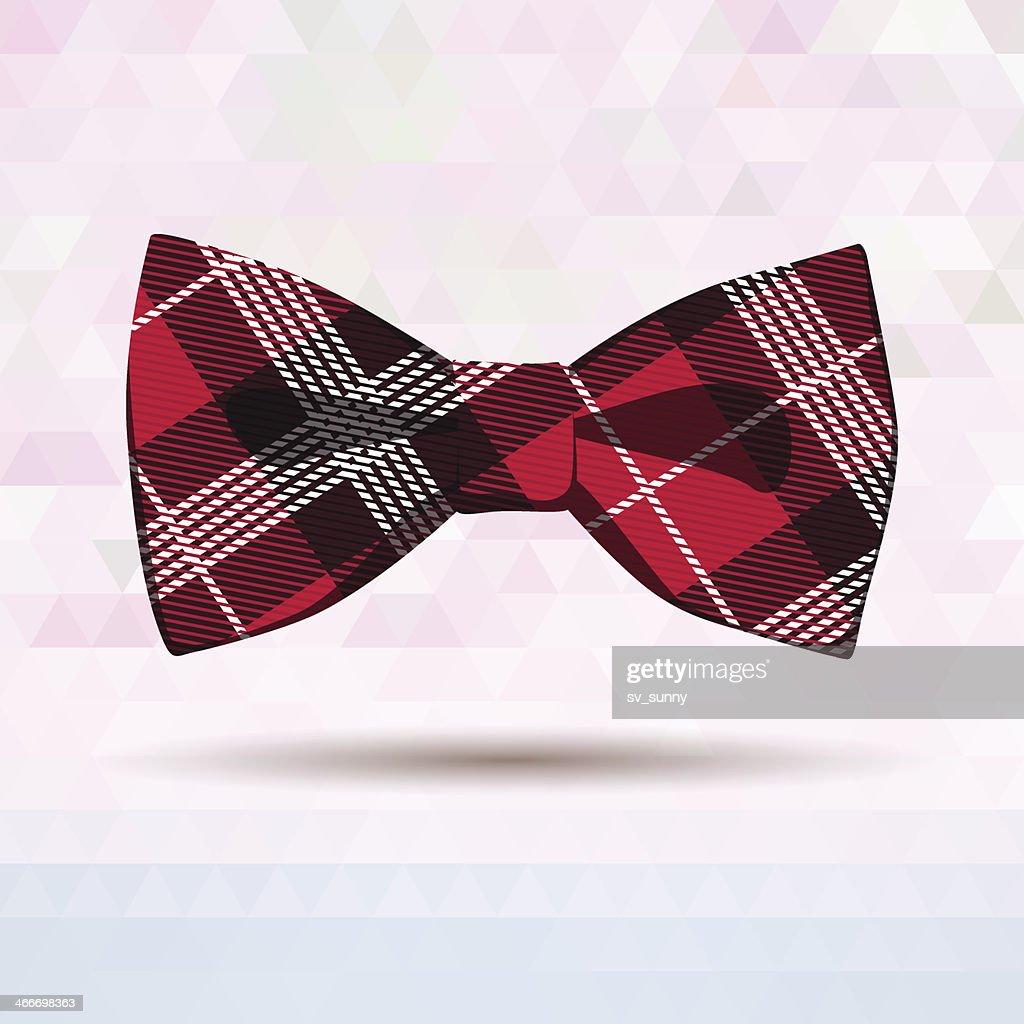 Red Tartan bow-tie