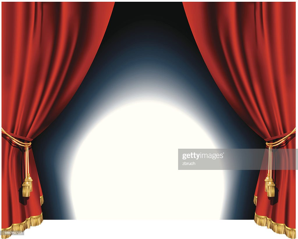 red theater curtains vector art getty images