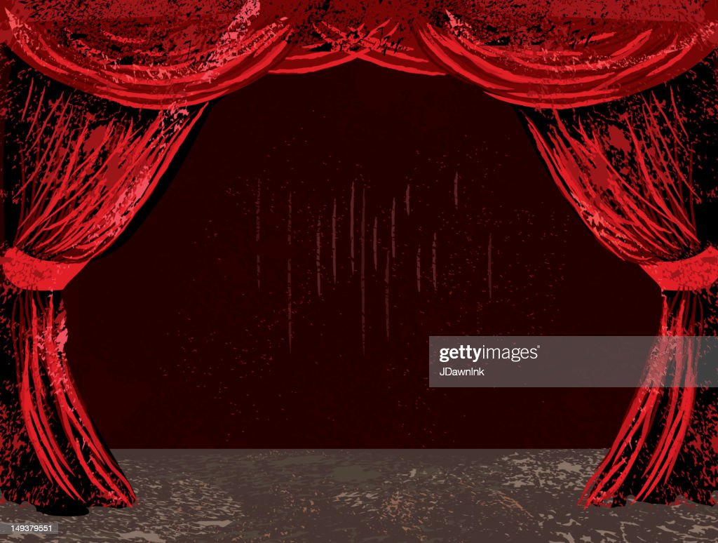red theatre curtains and stage vector art getty images