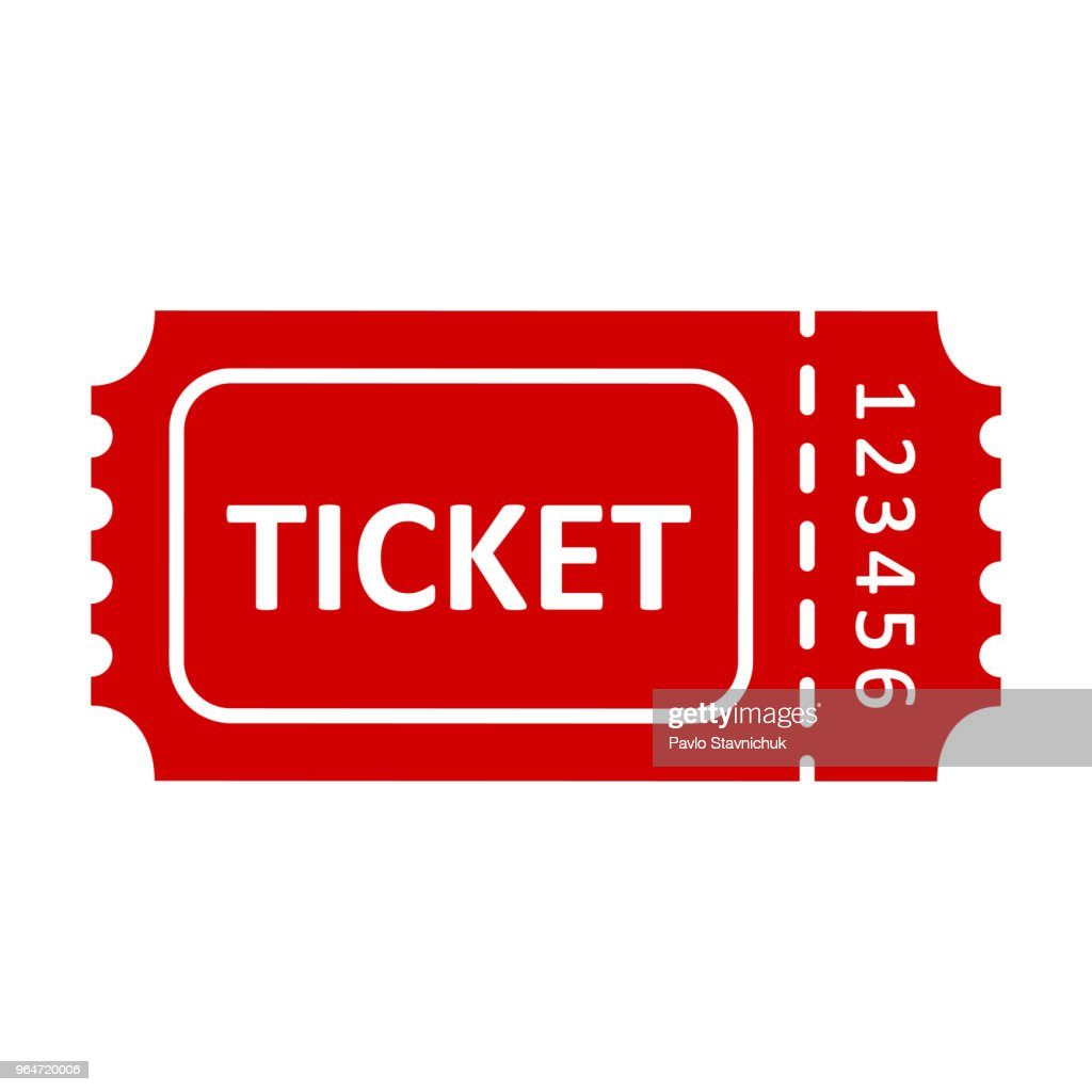 Red ticket icons – stock vector