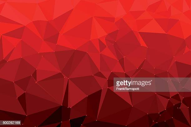 Red Triangle Polygon Pattern