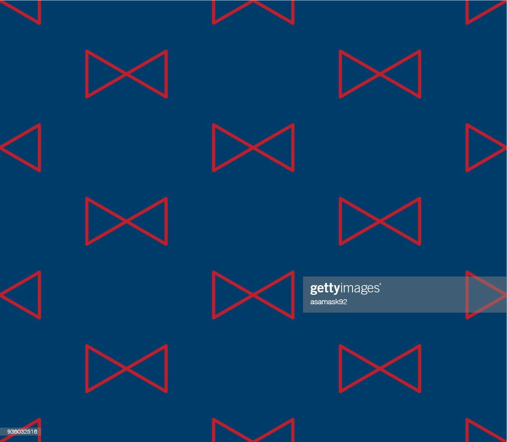 Red Triangle Ribbon on Indigo Blue Background
