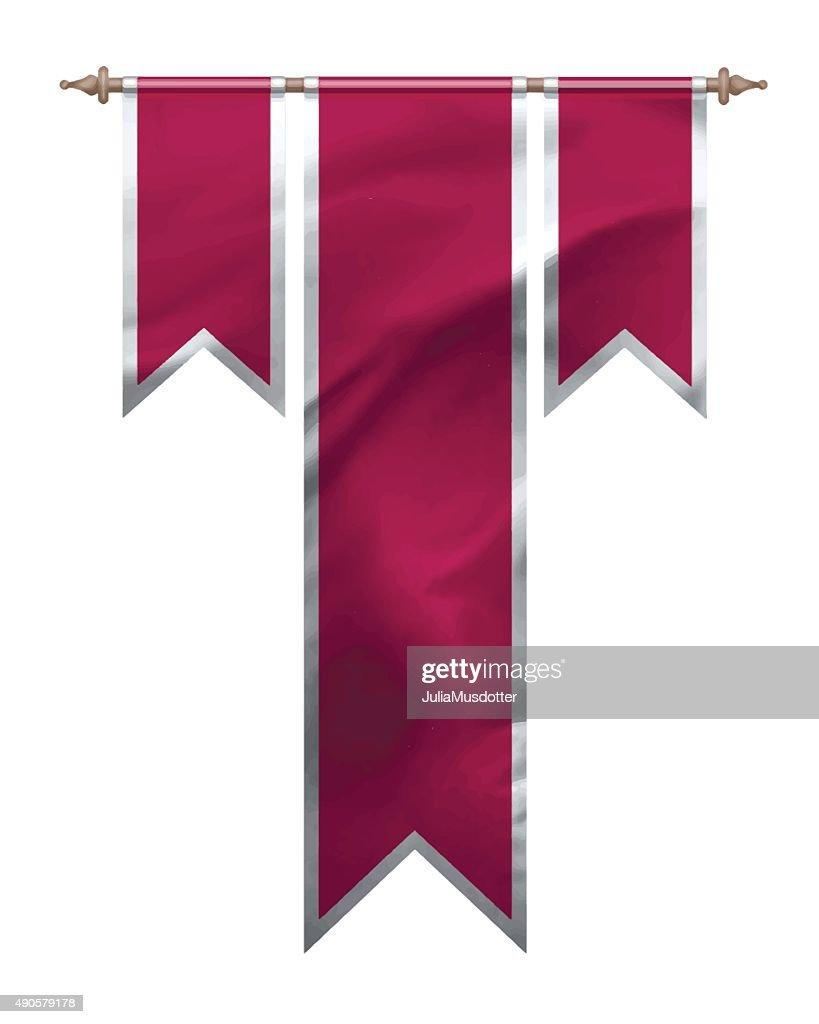 Red triple flag