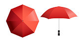 Red umbrella vector illustration