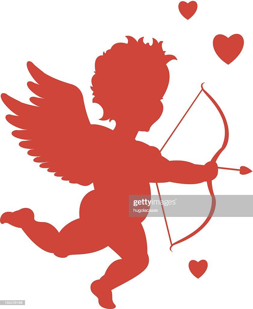 Red valentine cupid