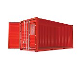 Red Vector Container