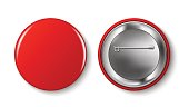 Red vector pin button