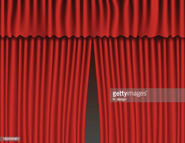 red velvet curtains - closing stock illustrations, clip art, cartoons, & icons