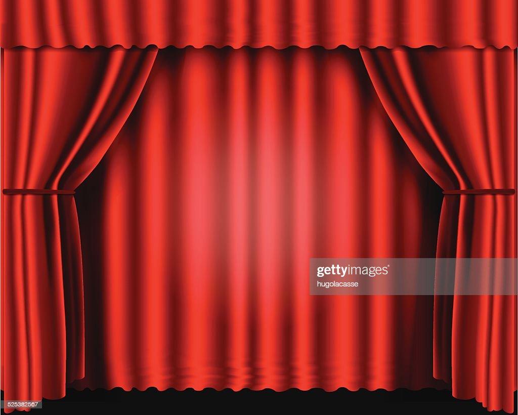 Rideaux De Velours Rouge Théâtre Clipart Vectoriel Getty Images