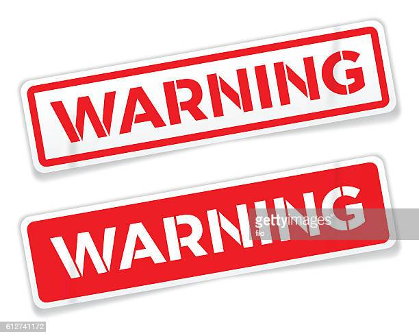 Red Warning Stickers