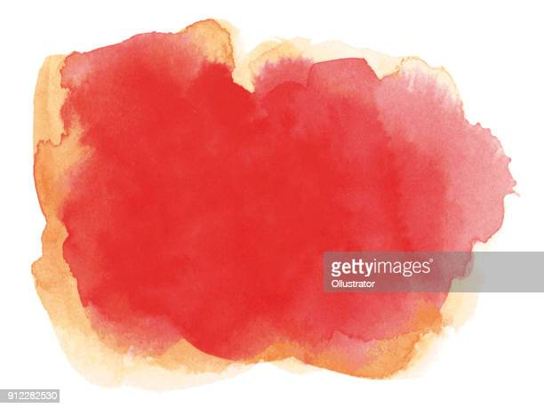 rote aquarell hintergrund - rot stock-grafiken, -clipart, -cartoons und -symbole