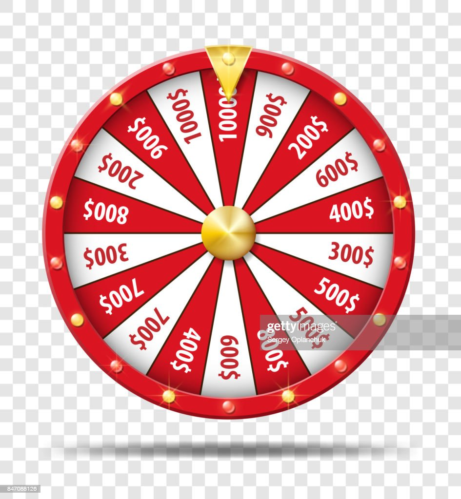 Red Wheel Of Fortune Isolated On Transparent Background Casino