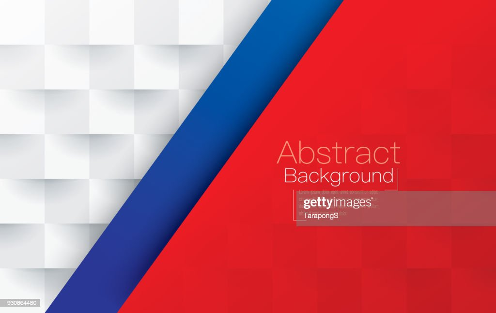 Red, white and blue abstract background vector.