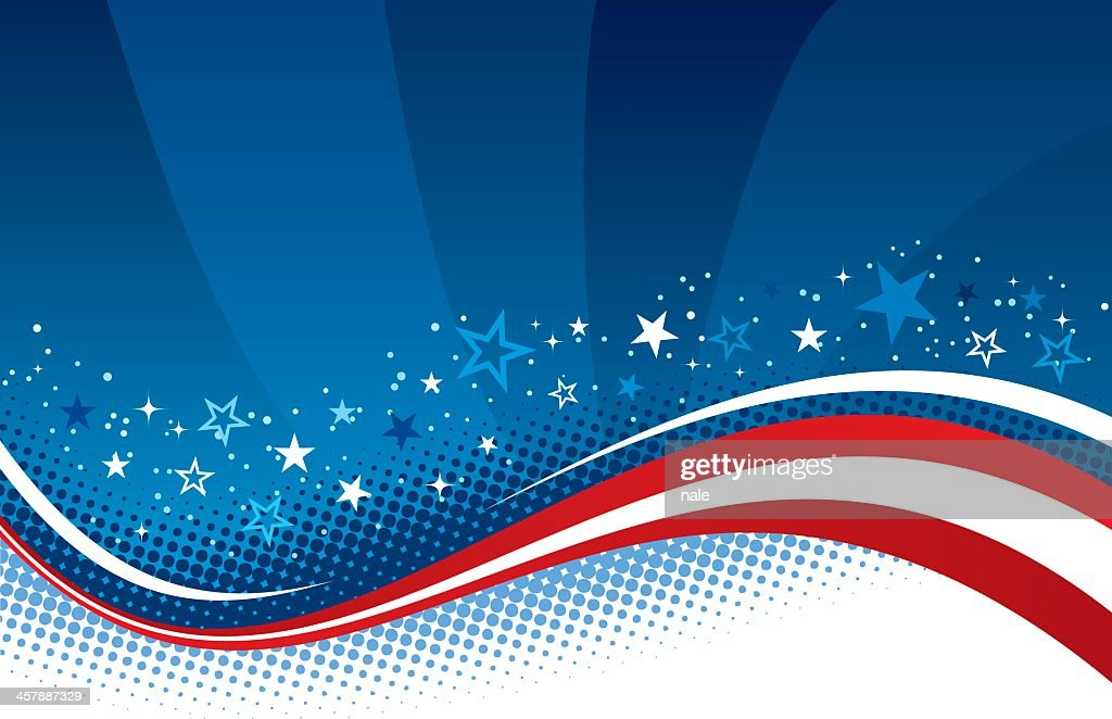 Red, white, and blue Fourth of July background