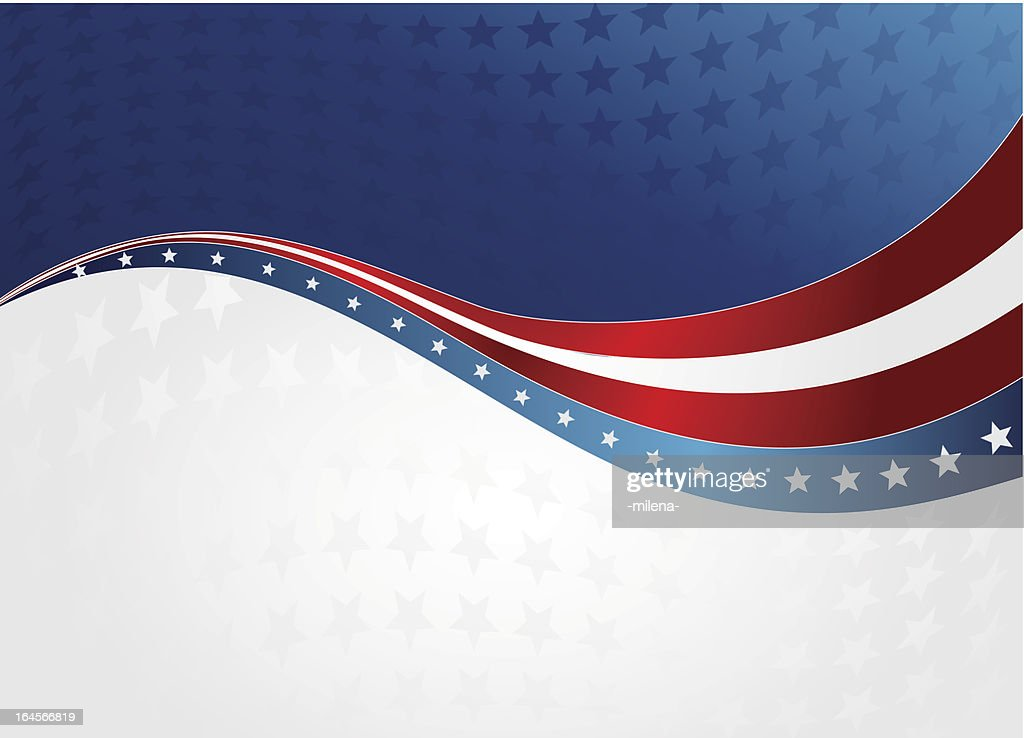 Red, white, and blue patriotic wave background