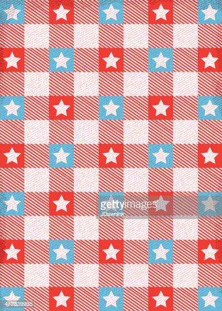 red white and blue star table cloth background - tablecloth stock illustrations, clip art, cartoons, & icons