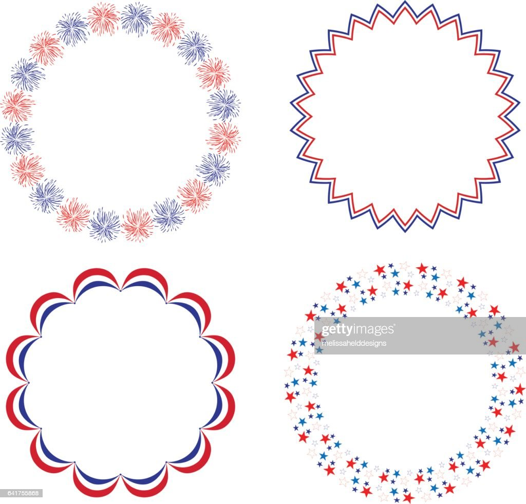 Red White Blue Circle Frames Vector Art Getty Images