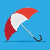 red white umbrella icon