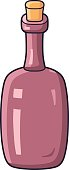 Red wine bottle vector.