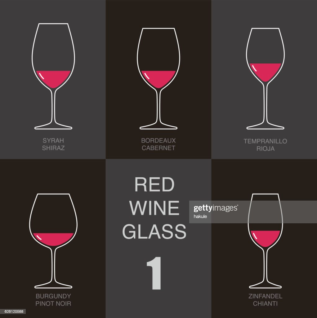 red wine glass cup flat icon design