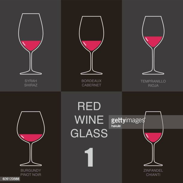red wine glass cup flat icon design - red wine stock illustrations, clip art, cartoons, & icons