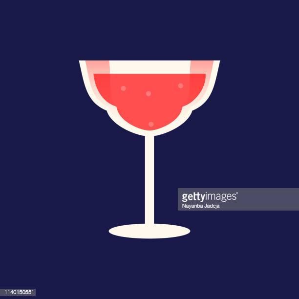 rotweinglas-ikone - social grace stock-grafiken, -clipart, -cartoons und -symbole