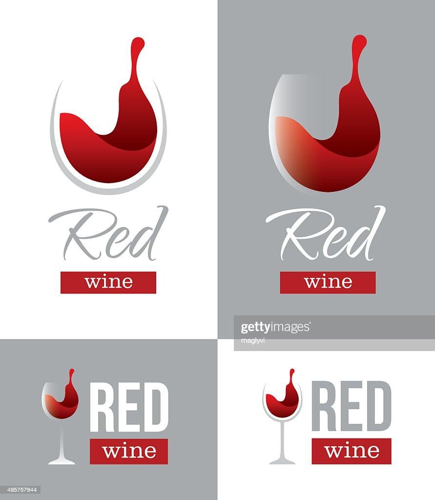 Red wine logo