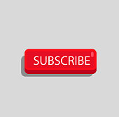 Red Youtube Subscribe Button