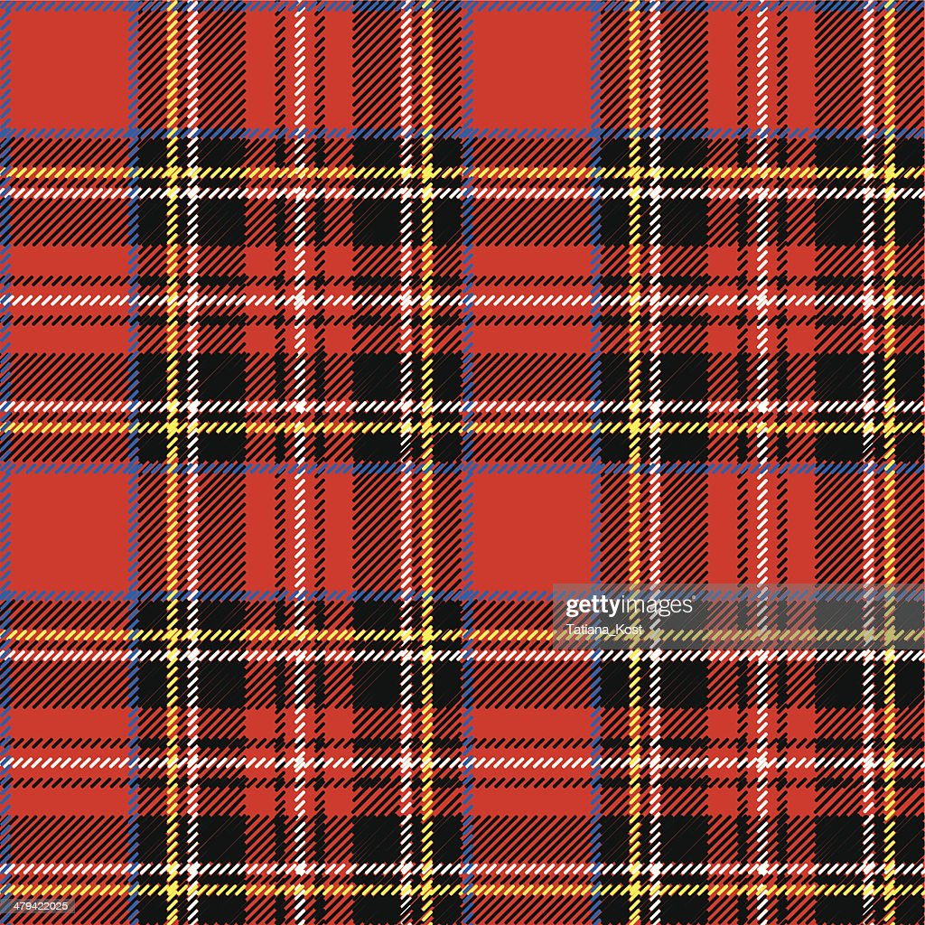 Red,black,bluе,yellow and white tartan seamless vector pattern