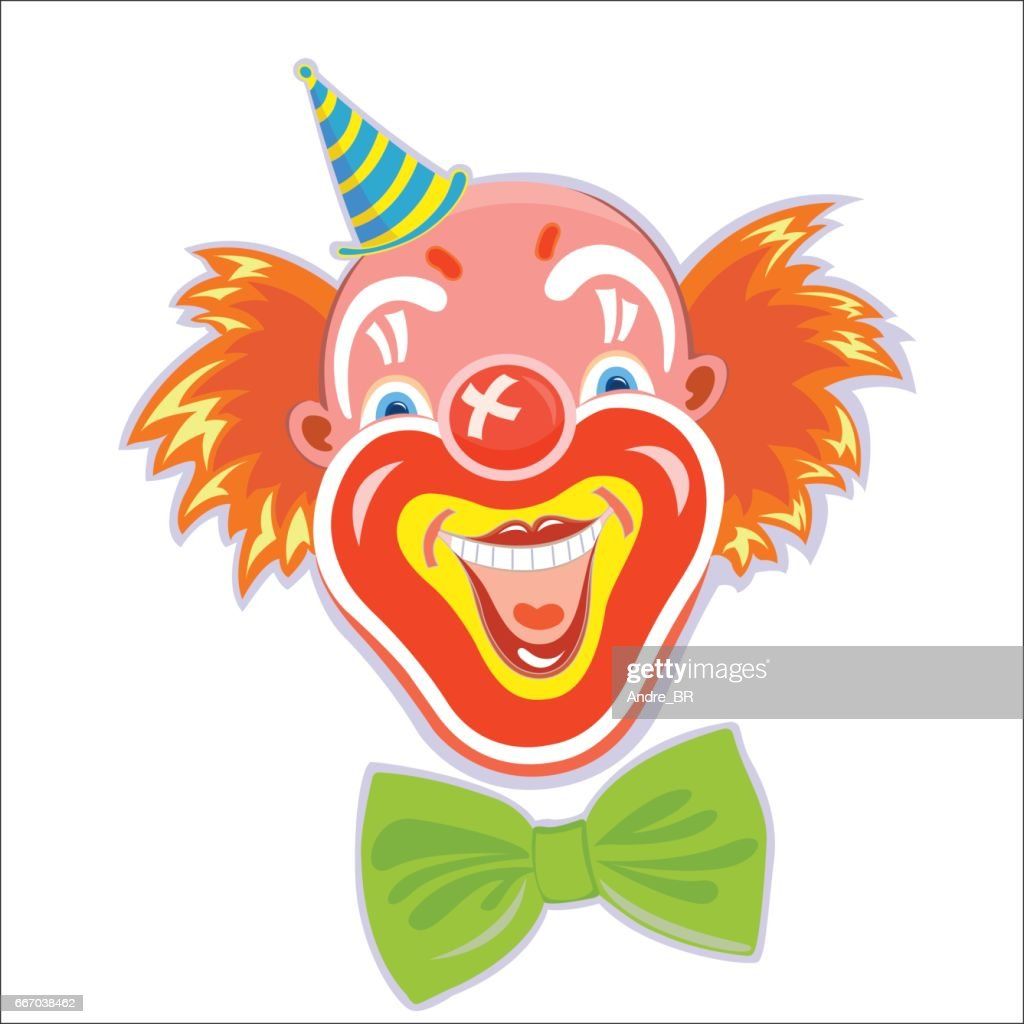 Red-haired smiling clown.