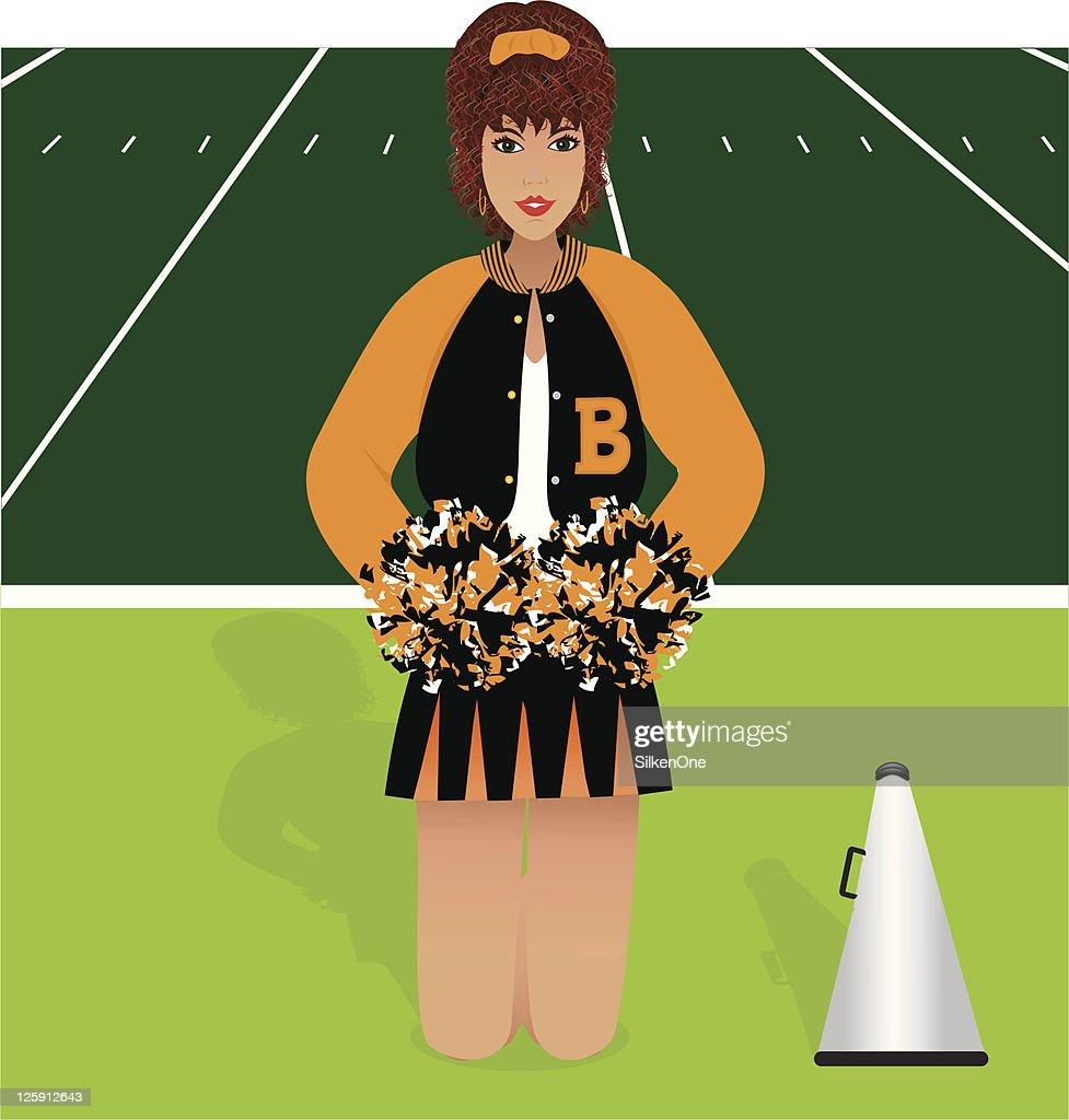 Redheaded Cheerleader : stock illustration