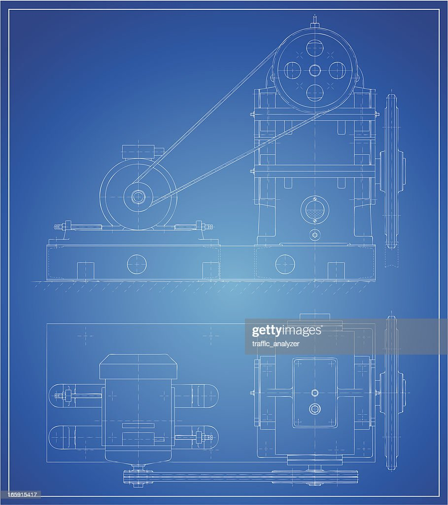 Reducing gear : Stock Illustration