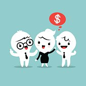 refer a friend referral concept illustration