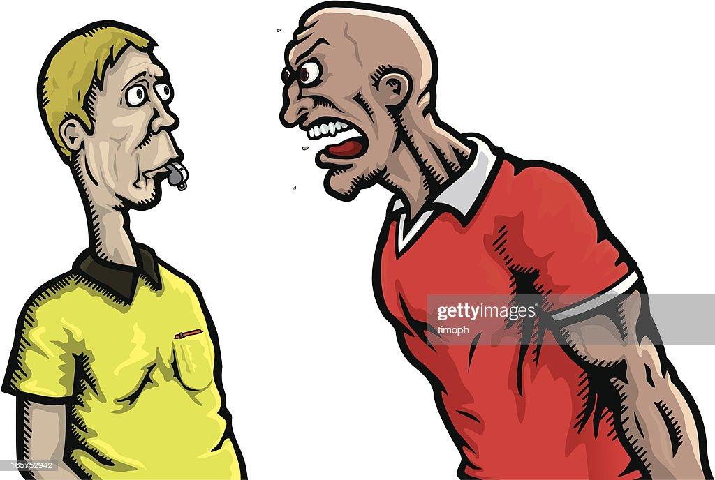 Referee abuse : stock illustration