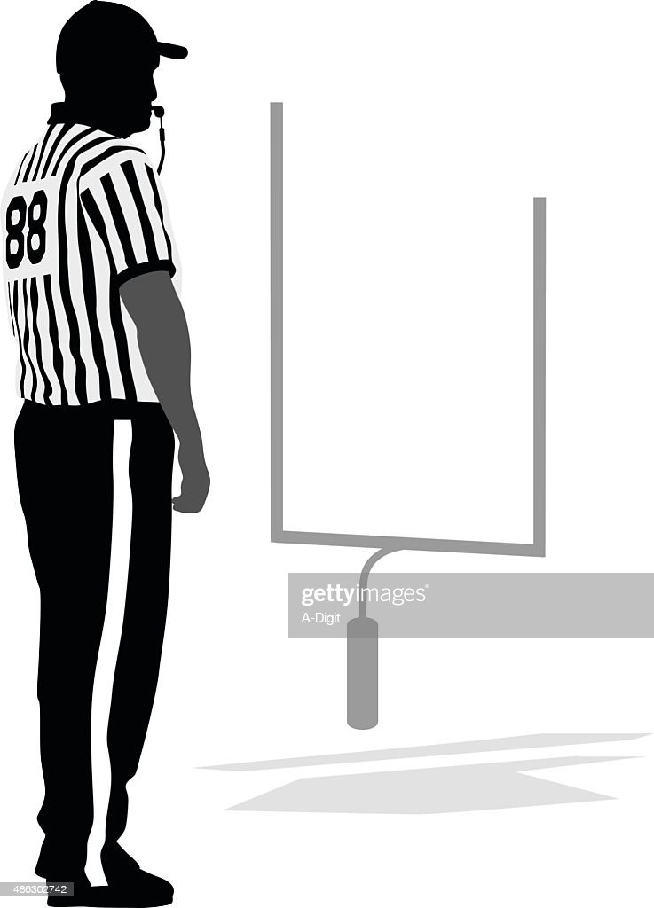 Referee Blowing The Whistle : stock illustration