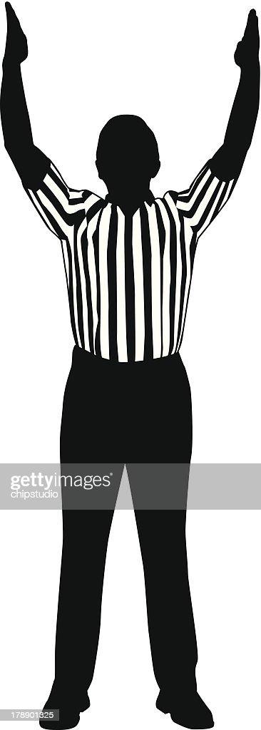 Referee Goal : stock illustration