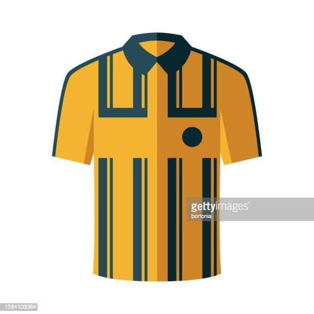 illustrations, cliparts, dessins animés et icônes de icône de jersey d'arbitre sur le fond transparent - tenue de football