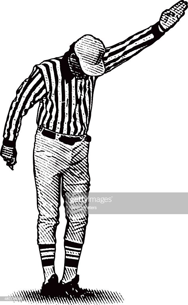 Referee Making a Call : stock illustration
