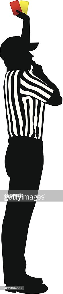 Referee Penalty : stock illustration