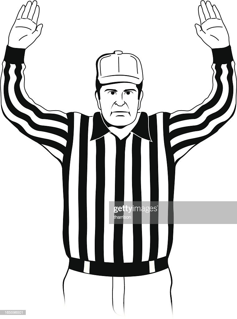 Referee Touchdown Signal : stock illustration